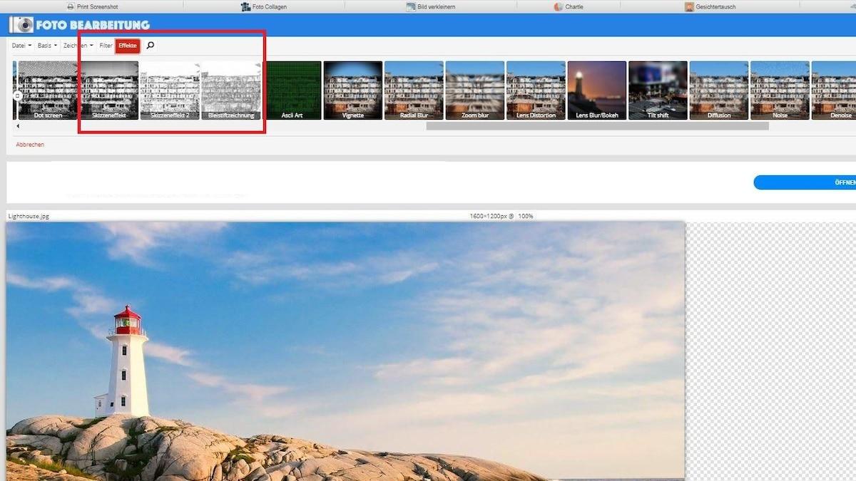 Fotobearbeitung.de: So wählen Sie den gewünschten Filter aus