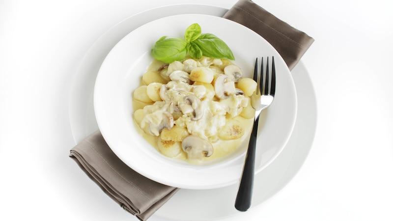 Unser Tipp: Vegane Gnocchi mit Champignon-Rahmsauce