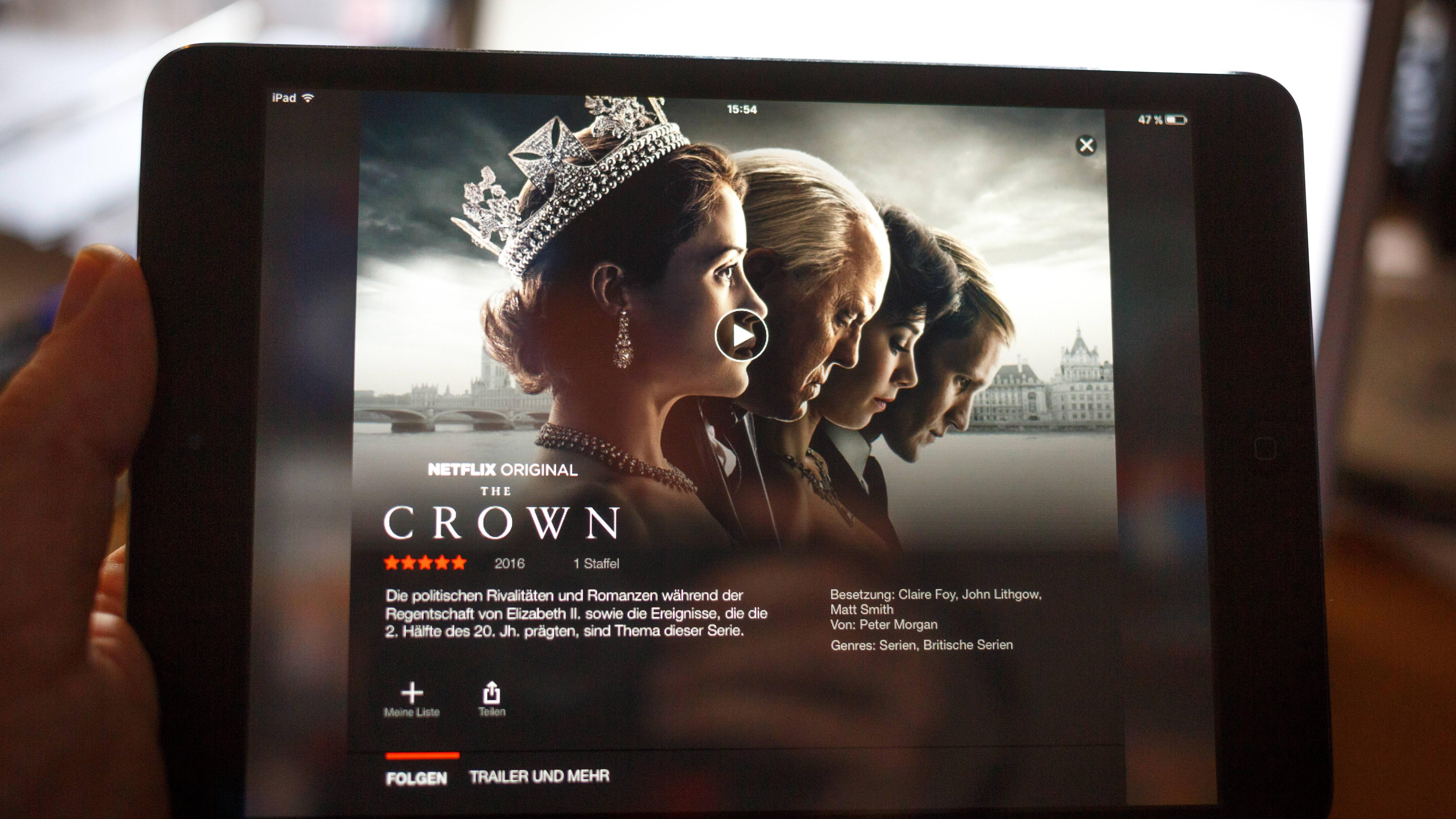 The Crown auf dem iPad