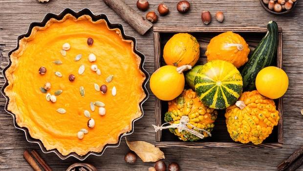 Einen Pumpkin Pie, also Kürbiskuchen, können Sie auch vegan zubereiten.