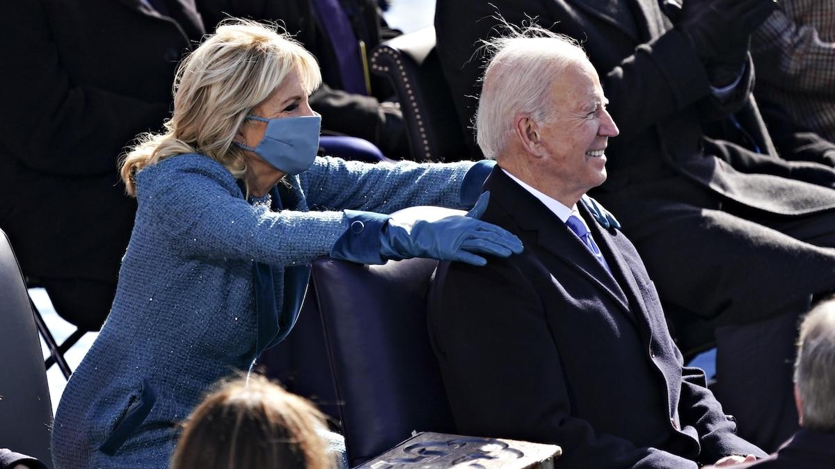 First Lady Jill Biden und ihr Mann, US-Präsident Joe Biden am 20. Januar bei der Amtseinführung in Washington D.C.