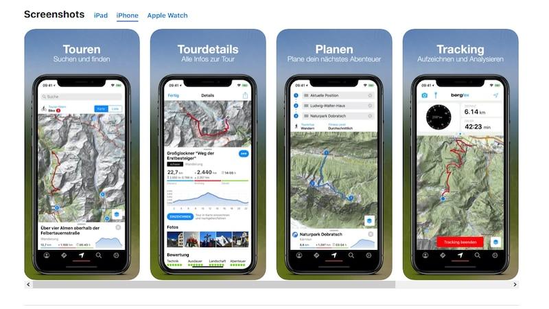 Die bergfex Touren und GPS Tracking App vereint alle Funktionen in einem Paket.