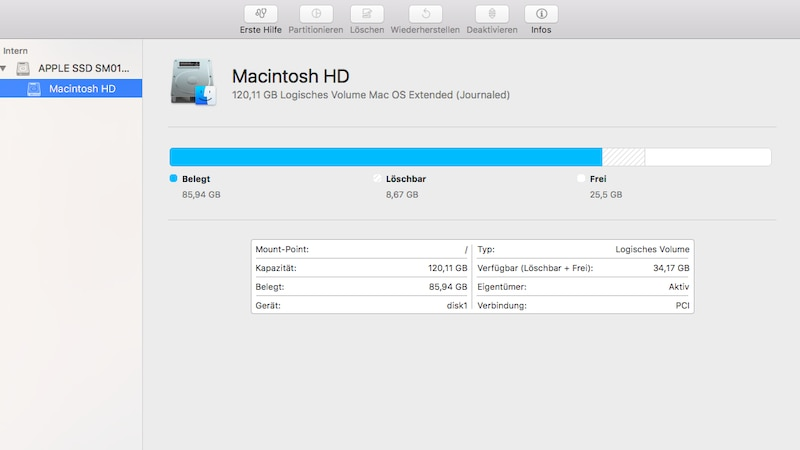 Bevor Sie ein Mac Update rückgängig machen, sollten Sie ein Backup Ihrer persönlichen Daten anlegen.