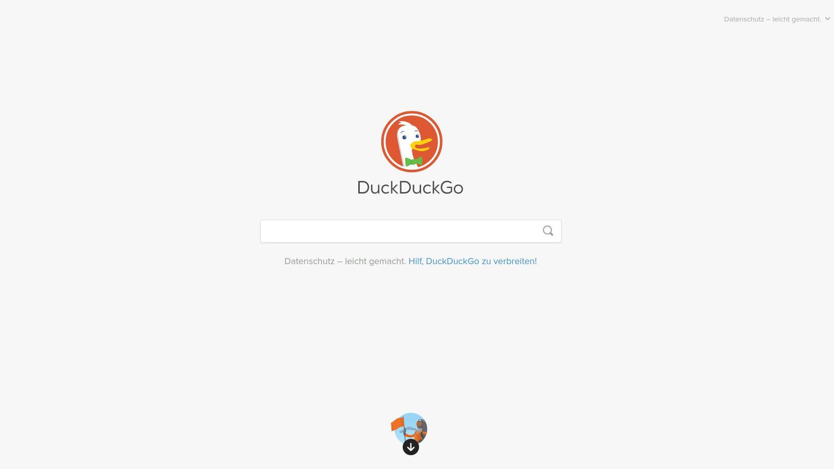 Mit DuckDuckGo erhalten Sie eine alternative Suchmaschine, die Wert auf Datenschutz und Privatsphäre legt.