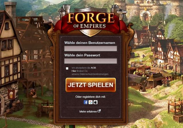 Um in Forge of Empires auf den Wunschbrunnen zu treffen, müssen Sie sich zunächst einloggen.