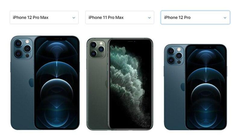 Das iPhone 12 Pro Max hat die größten Abmessungen, im Vergleich zu den anderen Apple-Geräten.