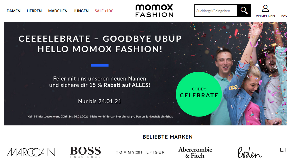 Momox Fashion bietet Markenkleidung als Second-Hand online an.