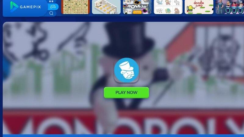 Bei GAMEPIX können Sie ohne Anmeldung Monopoly spielen.
