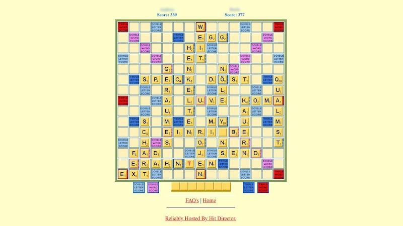 Auf thepixpit können Sie gegen Ihre Freunde Scrabble spielen. Der Wortschatz, der erkannt wird, ist dabei sehr groß.