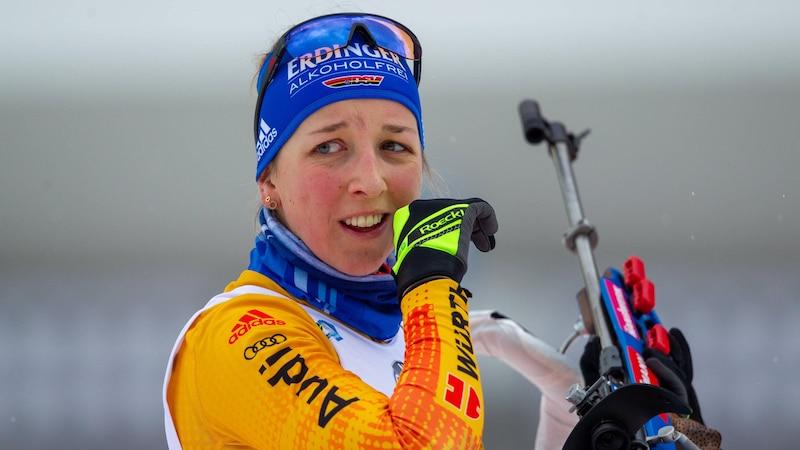 Sammelt Preisgelder: Die erfolgreiche deutsche Biatlethin Franziska Preuß