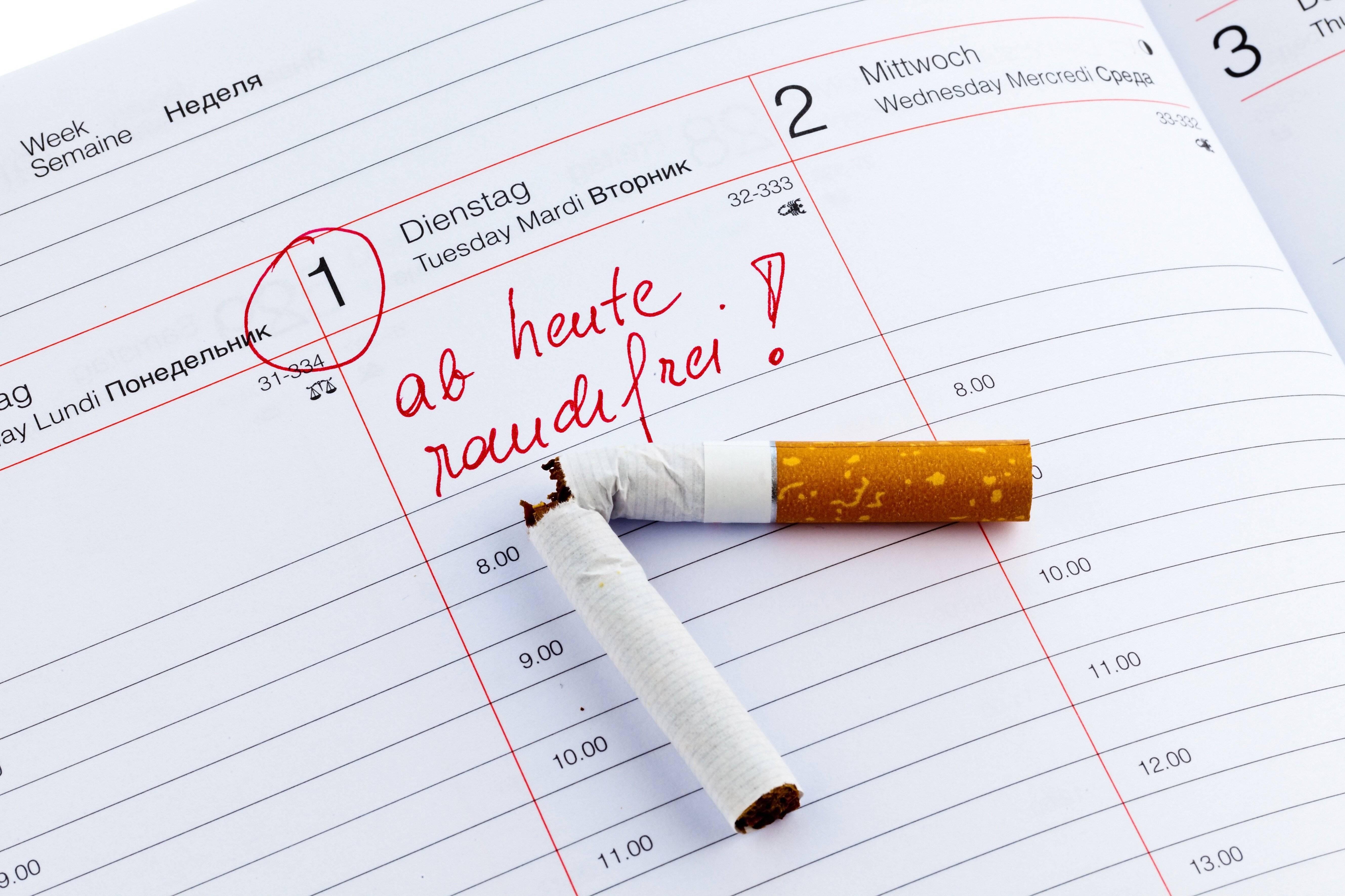 Nichtraucher zu bleiben erfordert Willensstärke.