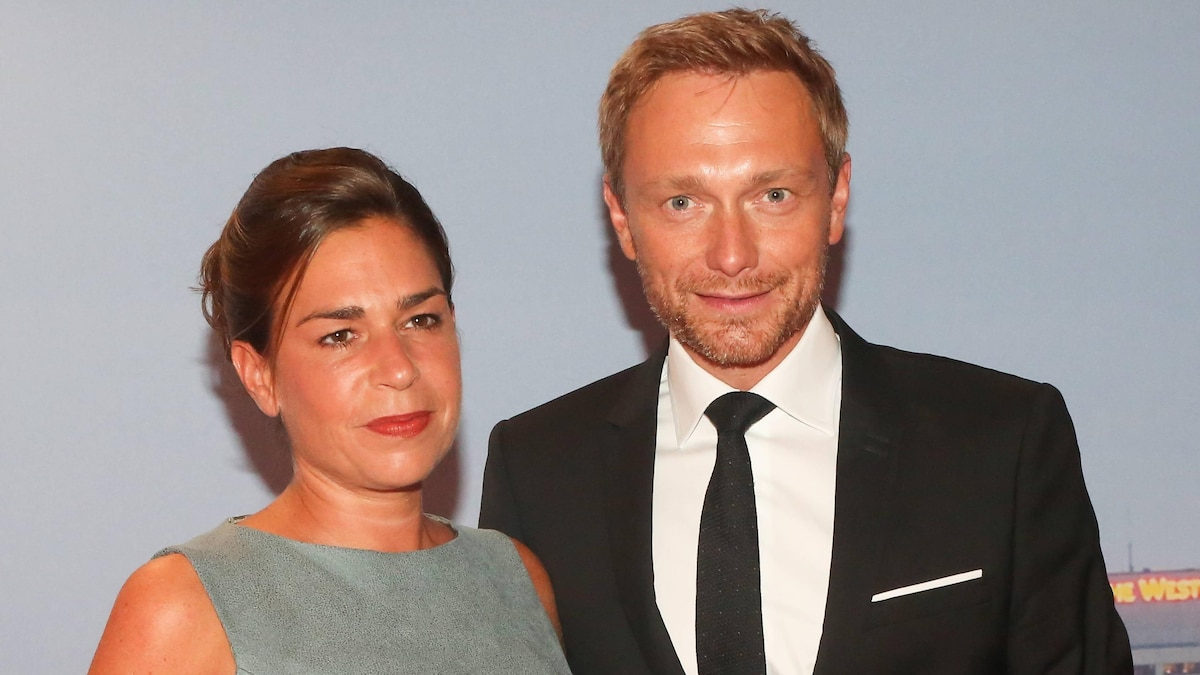 2016: Christian Lindner mit seiner damaligen Frau Dagmar Rosenfeld-Lindner