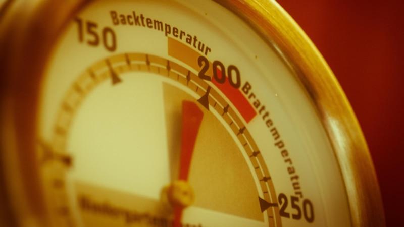 Beim Warmhalten von Essen im Backofen kann ein Backthermometer hilfreich sein.