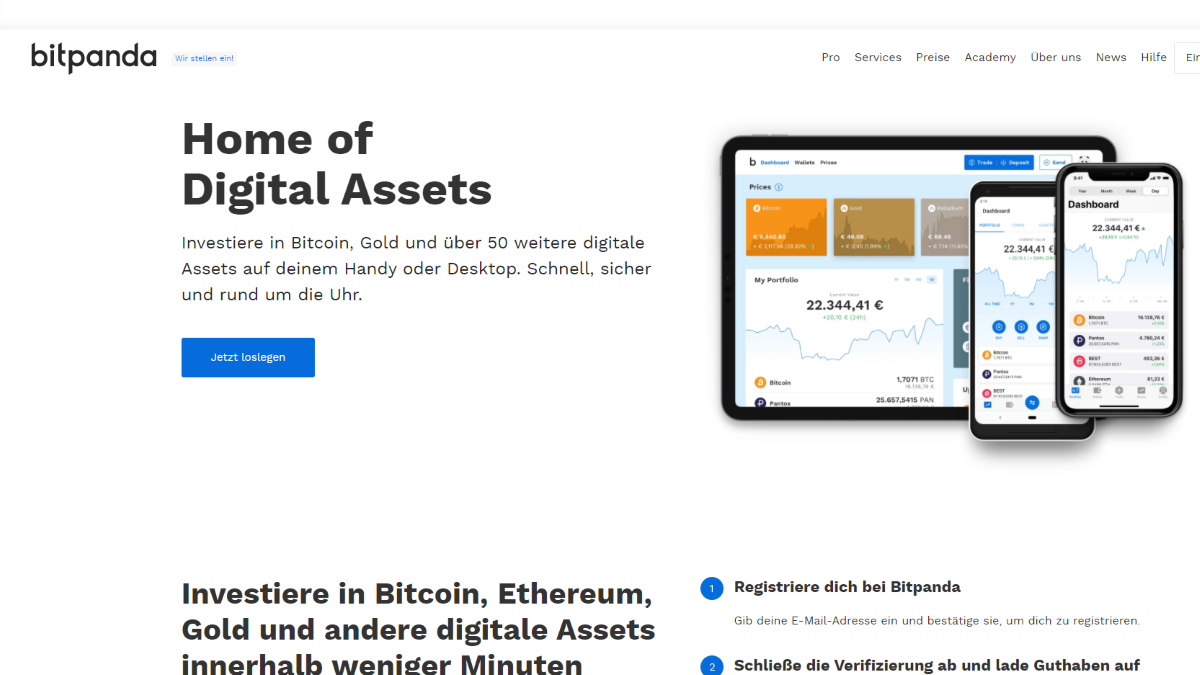 Bitpanda ist im Vergleich zu Coinbase fokussiert auf den europäischen Markt und bietet diverse Zahlungsmethoden an