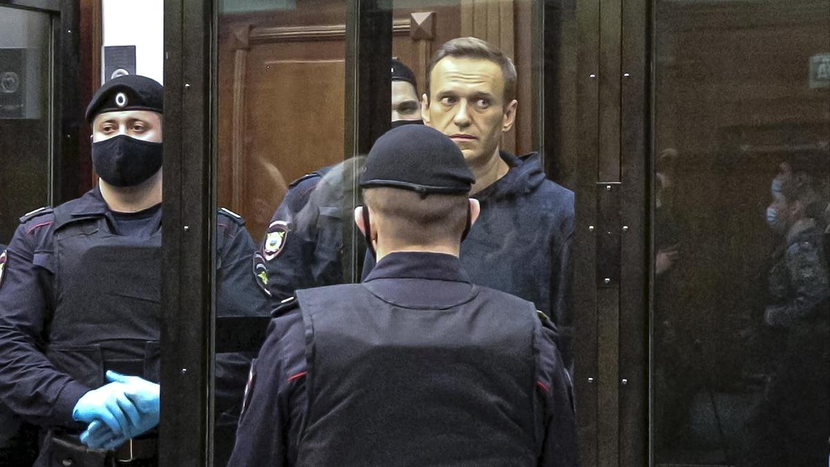 Nawalny vor Gericht in Moskau