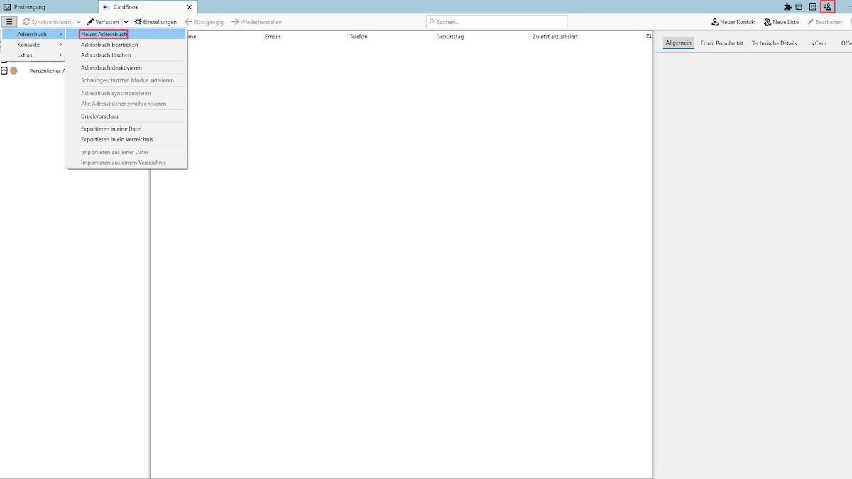 Wenn Sie Ihre Google-Kontakte mit Thunderbird synchronisieren wollen, installieren Sie das Add-on