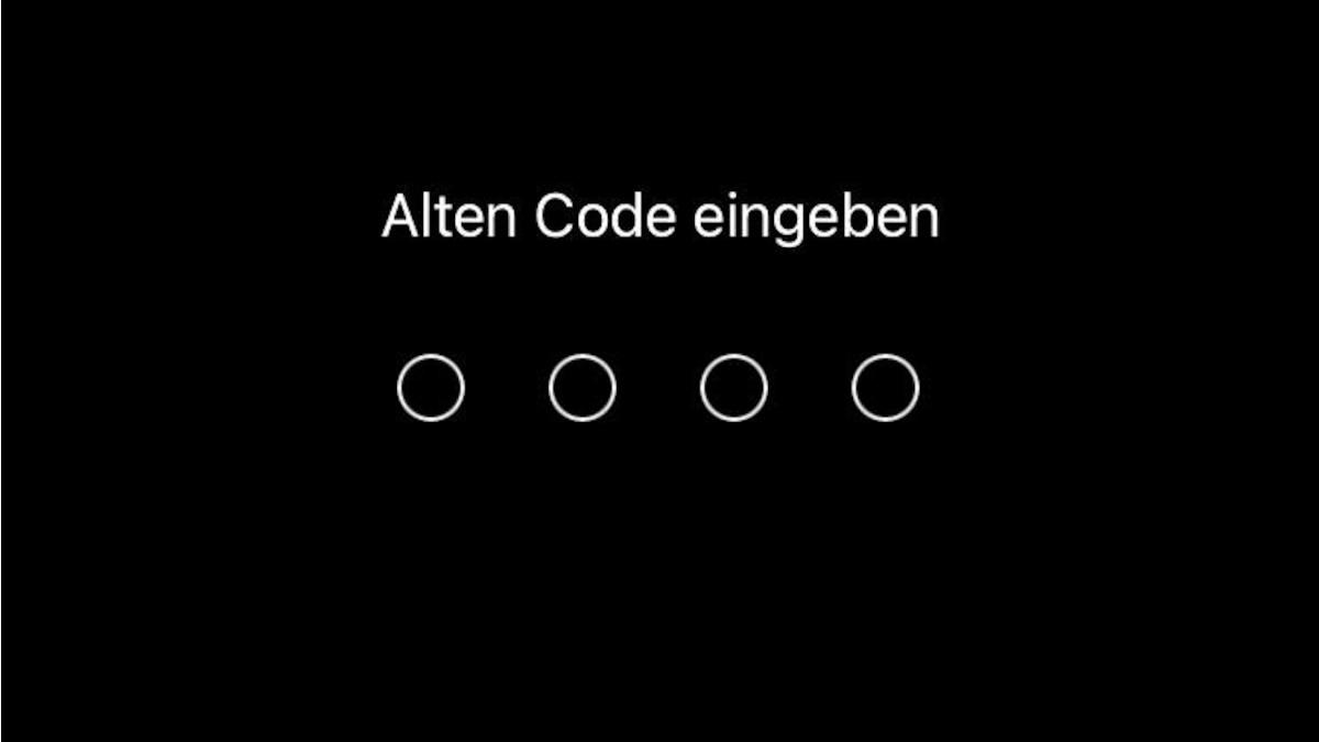 Geben Sie Ihren alten Code ein.