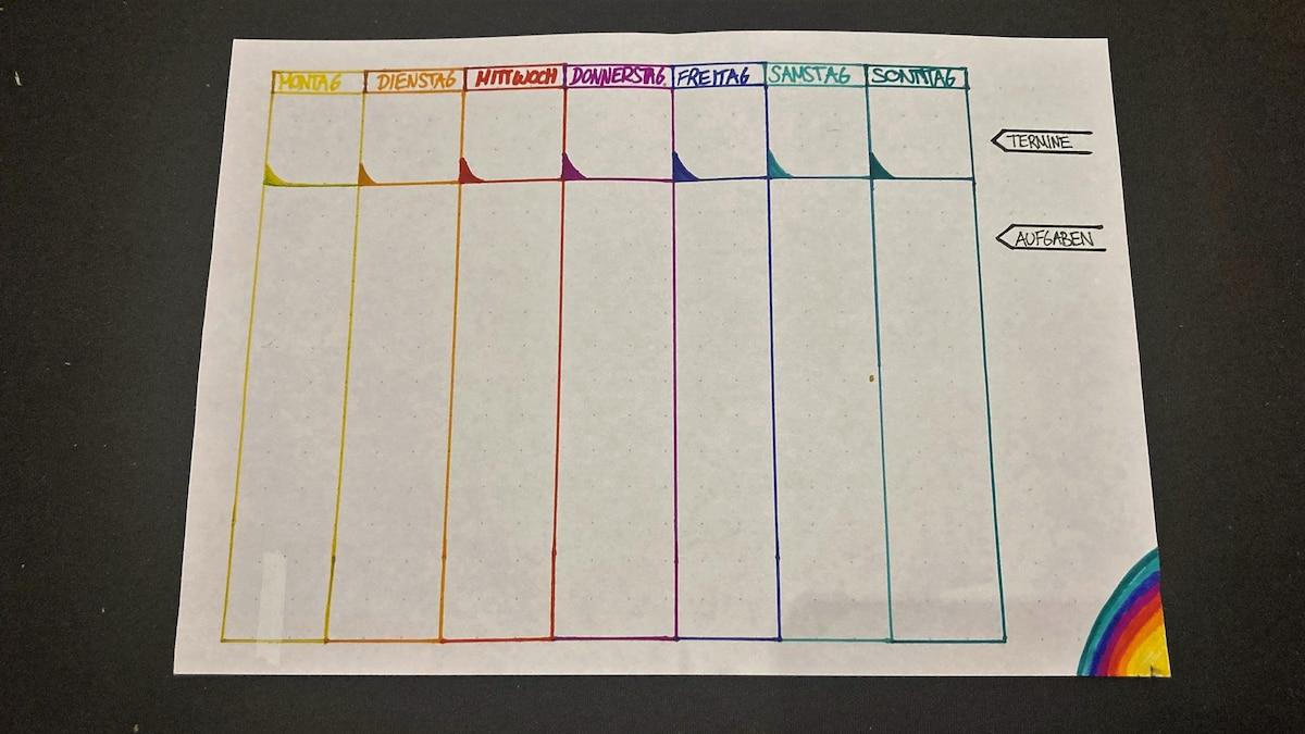 Sie haben nicht immer gleich viel Zeit, um Ihre Wochenübersicht zu gestalten. Manchmal genügt ein einfaches Layout für einen Kalender.