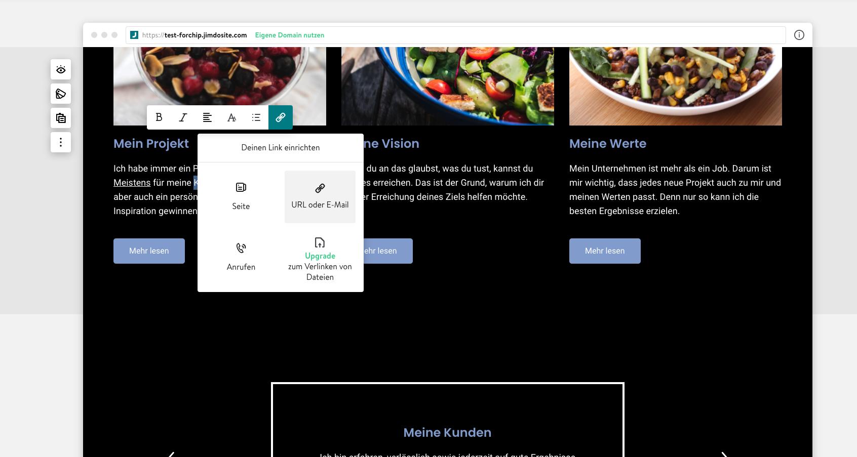 Links auf Jimdo-Webseite einfügen ist schnell erledigt.