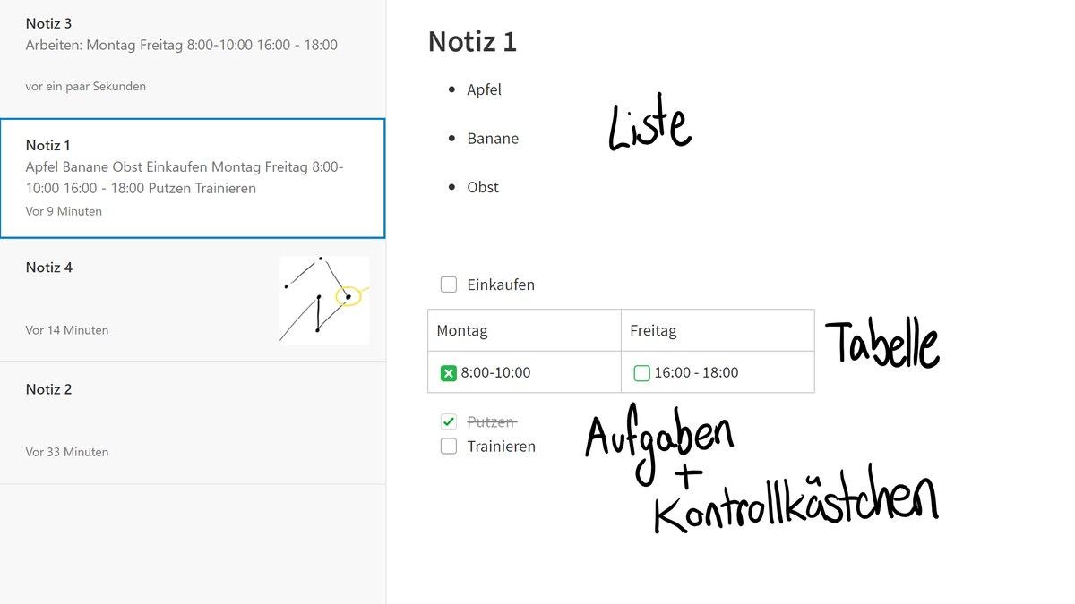 Erstellen Sie Listen, Aufgaben und Tabellen mit Evernote.