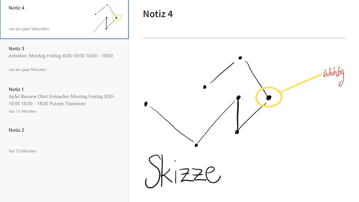 Zeichnen Sie mit der Skizzen-Funktion in Evernote.
