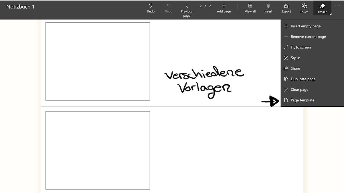 Die verschiedenen Seiten-Designs sind ein großer Vorteil der NoteLedge - App.