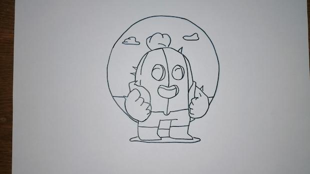 Diese zeichnen Sie im Anschluss mit einem schwarzen Stift nach.