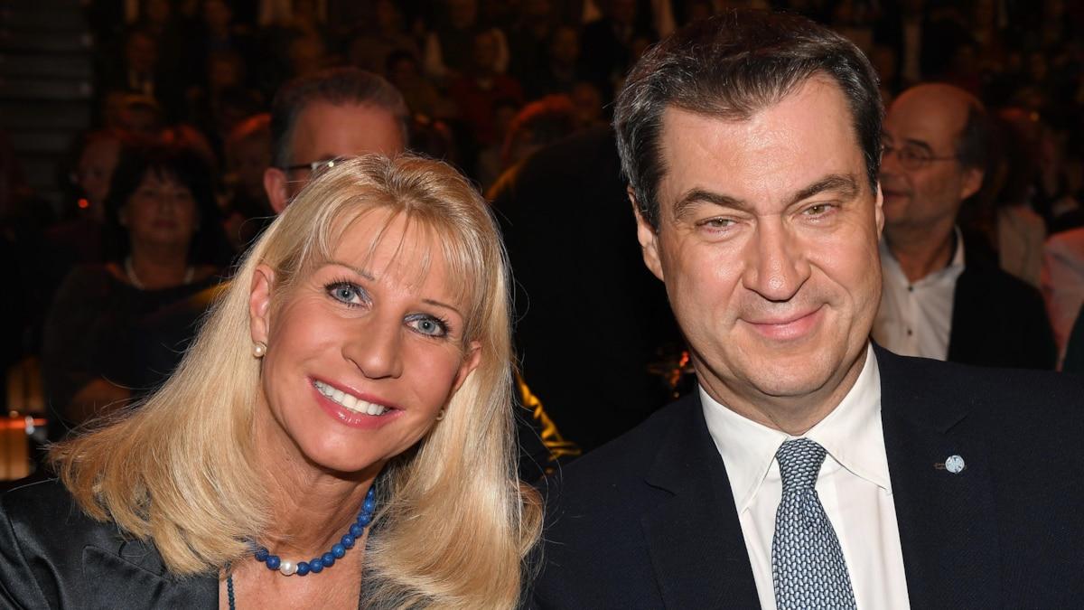 Markus Söder mit Ehefrau Karin Baumüller-Söder 2019 in Nürnberg
