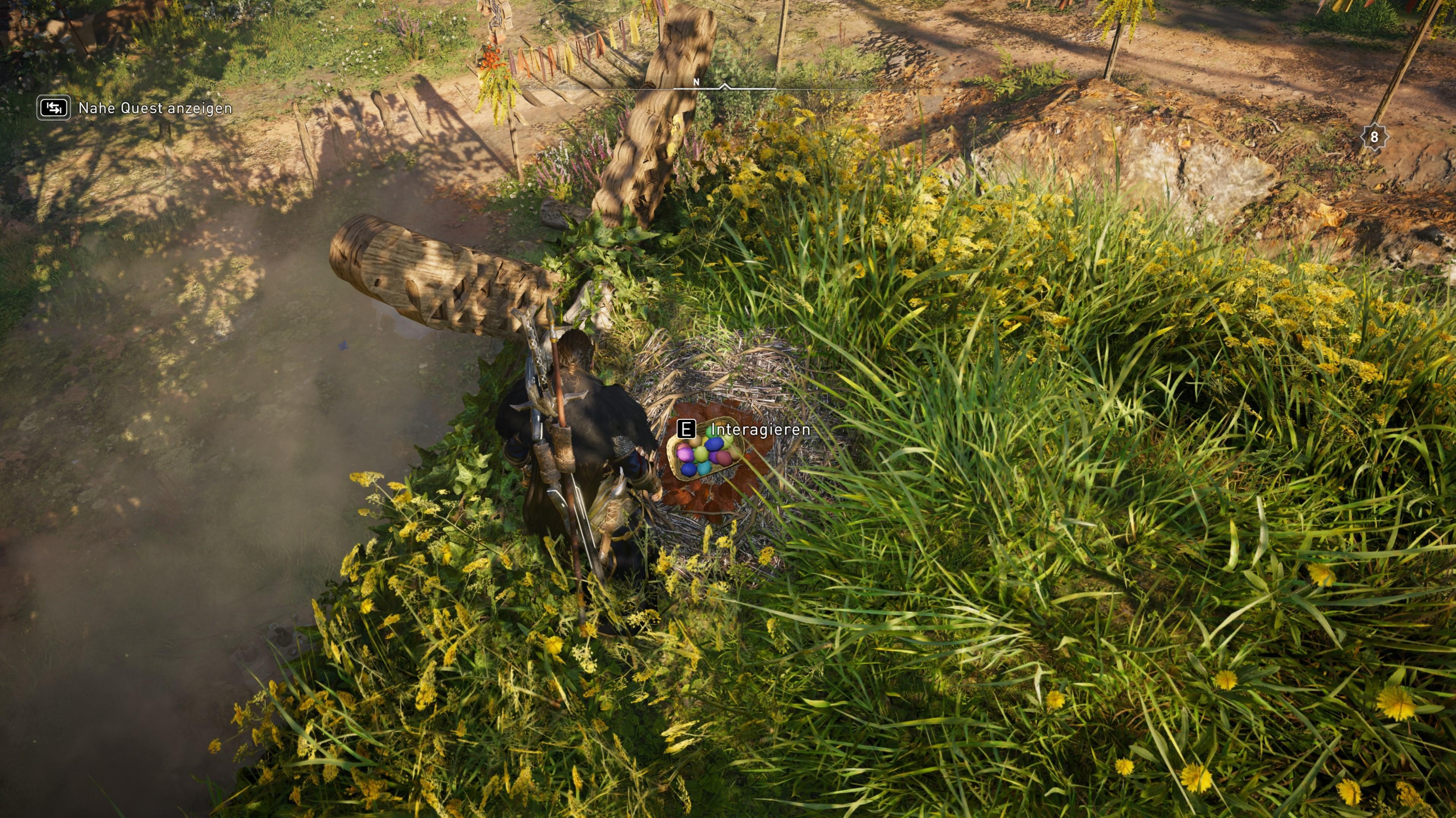 Die Eierkörbe des Eastre-Fests in Assassin's Creed Valhalla sind gut versteckt