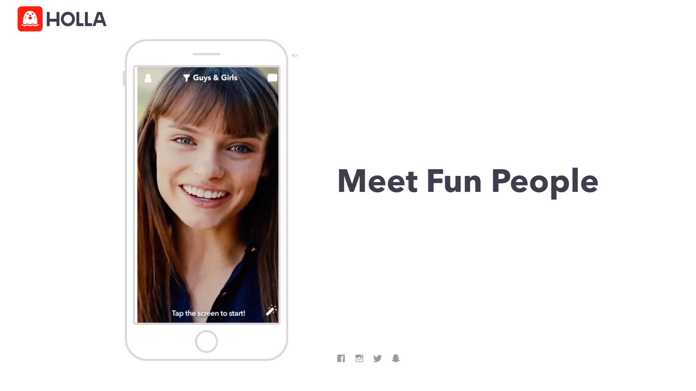 Im Vergleich zu Anbietern wie Omegle können Sie bei Holla Freundschaftsanfragen an Ihre Chatpartner senden.