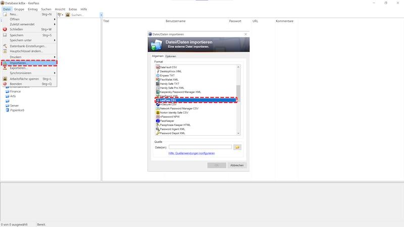 Ihre LastPass Passwörter können Sie nach dem Export im Handumdrehen in KeePass importieren.