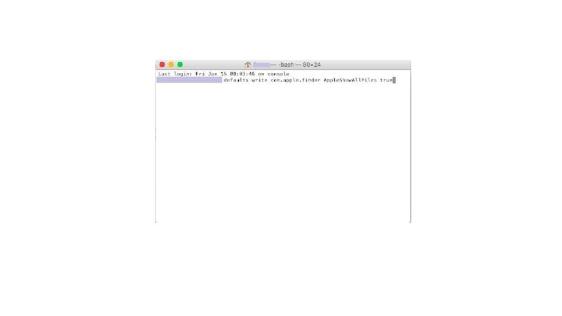 Mac OS X: Versteckte Dateien und Ordner über Terminal-Befehl anzeigen lassen