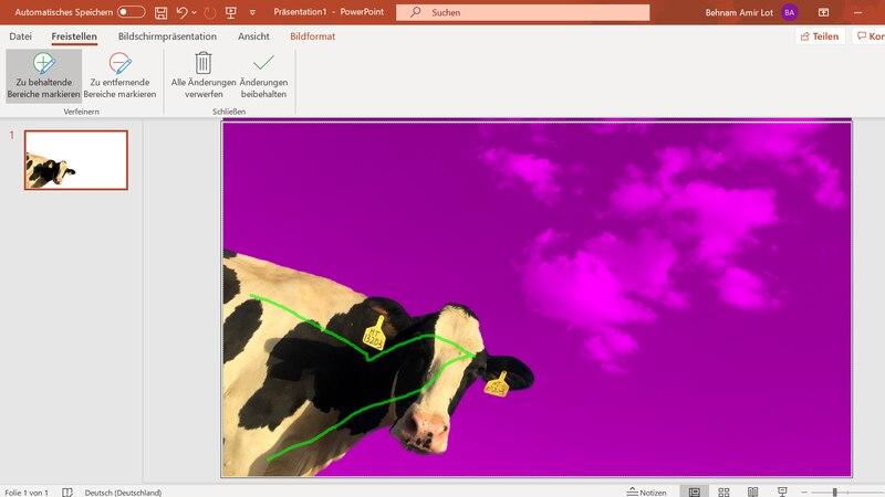PowerPoint: Bild freistellen - so klappt's