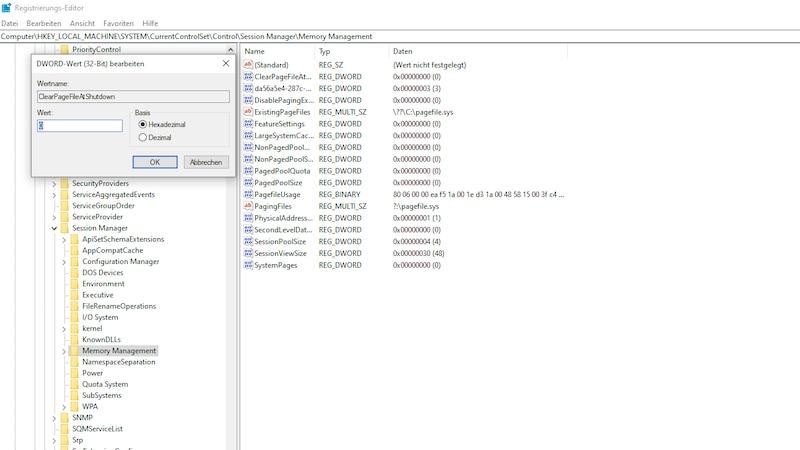 SSD: Auslagerungsdatei löschen