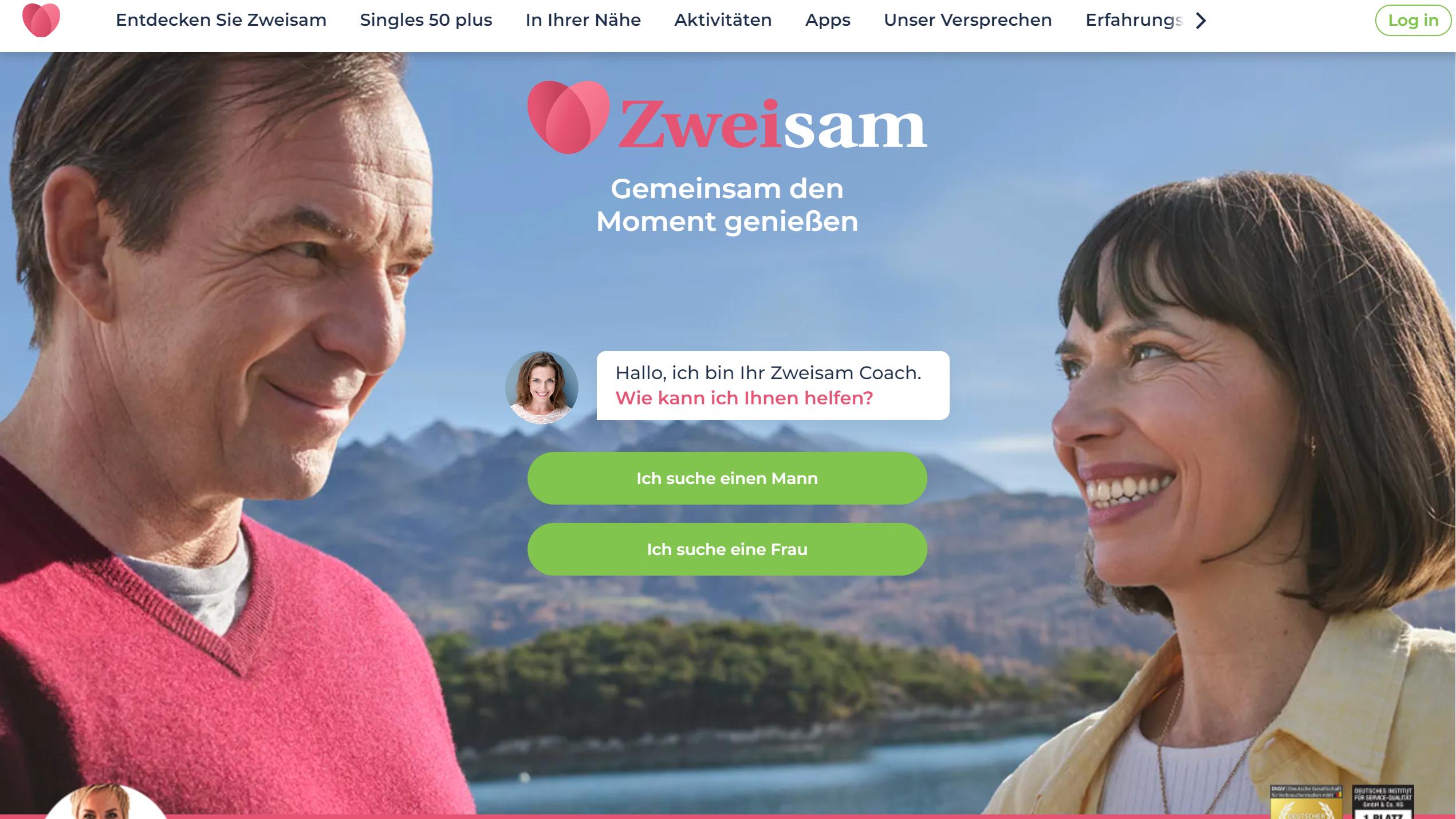 Für Ihre Dating-Erfahrung ab 50 Jahre ist Zweisam.de eine gute und seriöse Singlebörse