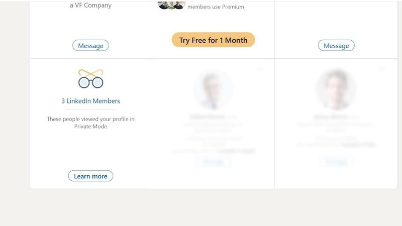 Wenn Sie im LinkedIn-Privatmodus surfen, werden keine Ihrer Daten preisgegeben.