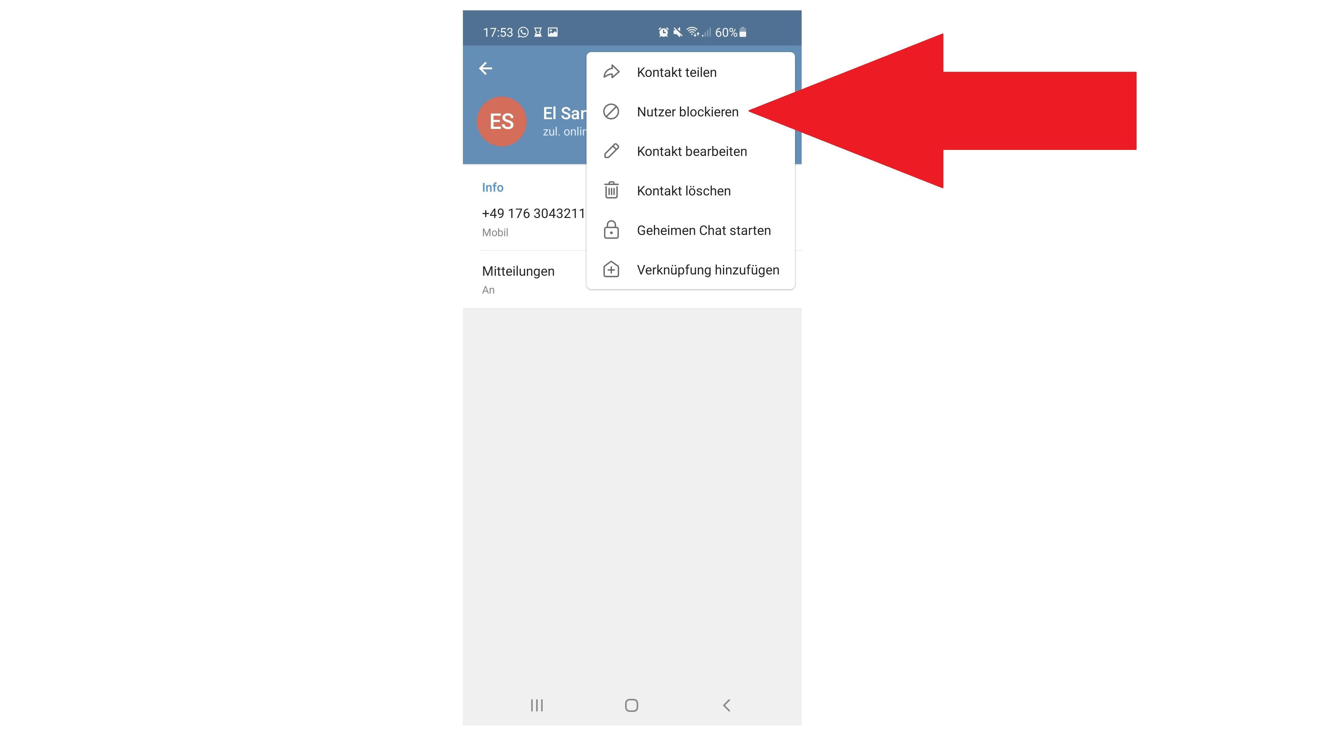 Telegram: Kontakte lassen sich leicht blockieren