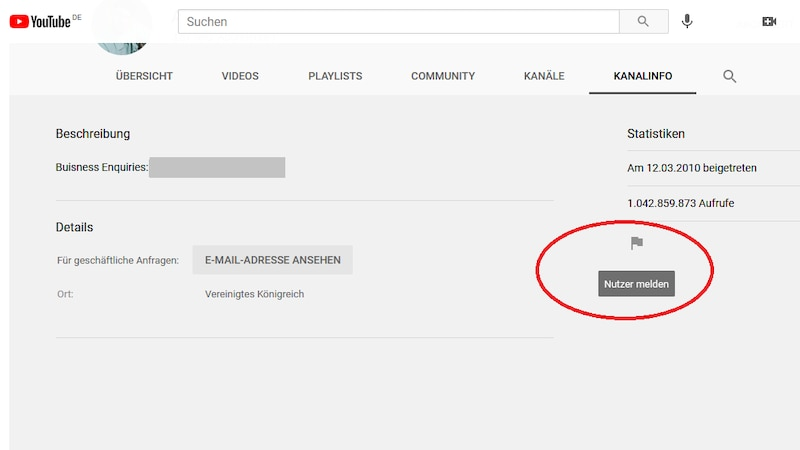 YouTube-Nutzer mit unzulässigen Inhalten können Sie mit wenigen Klicks melden.