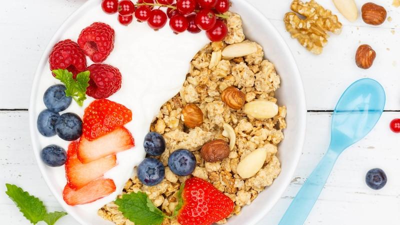 Kinder lieben Joghurt. Er ist eine gesunde Alternative zum Pausenbrot, wenn er wenig Zucker enthält.