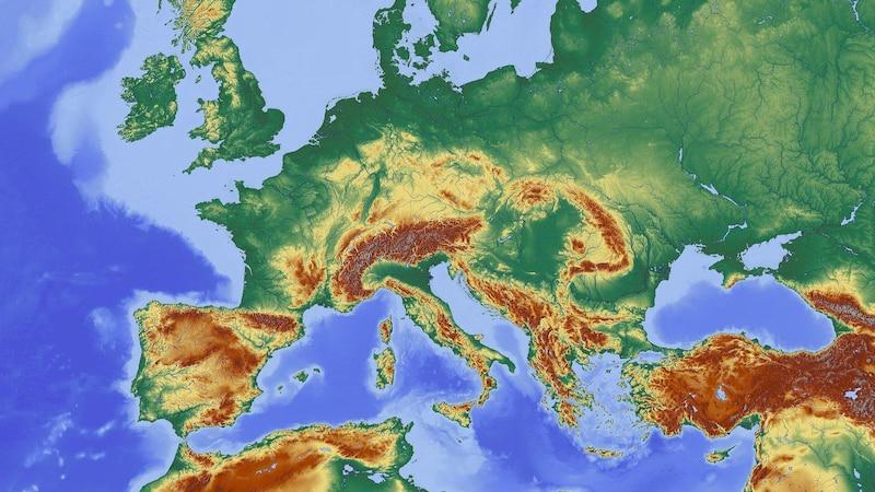 Länder und Hauptstädte von Europa im Überblick