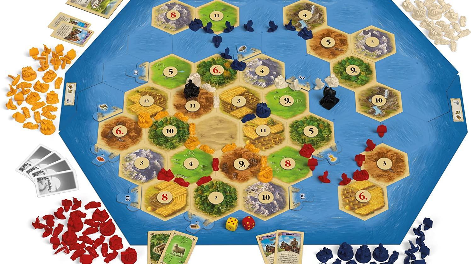 Die Erweiterung Siedler von Catan Seefahrer bietet neue Spielemöglichkeiten für bis zu 6 Mitspieler.