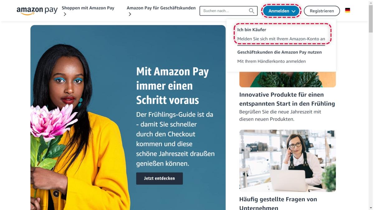 Amazon Pay können Sie ganz einfach einrichten.