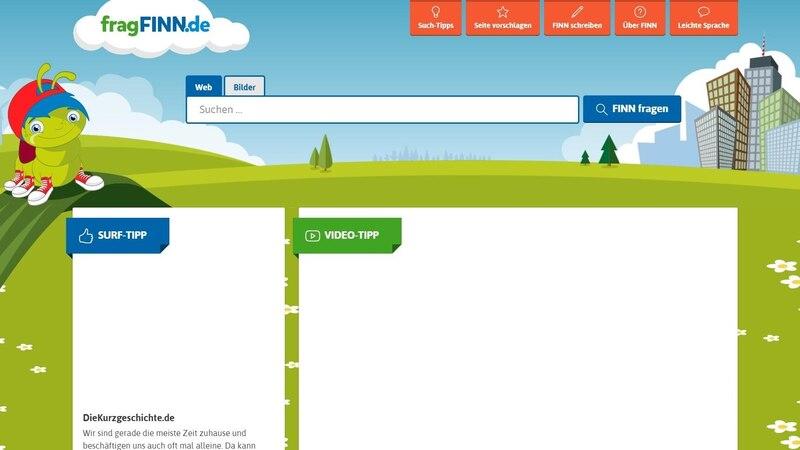 Die Kindersuchmaschine fragFINN bietet Kindern die Möglichkeit, erste positive Online-Erfahrungen zu sammeln.