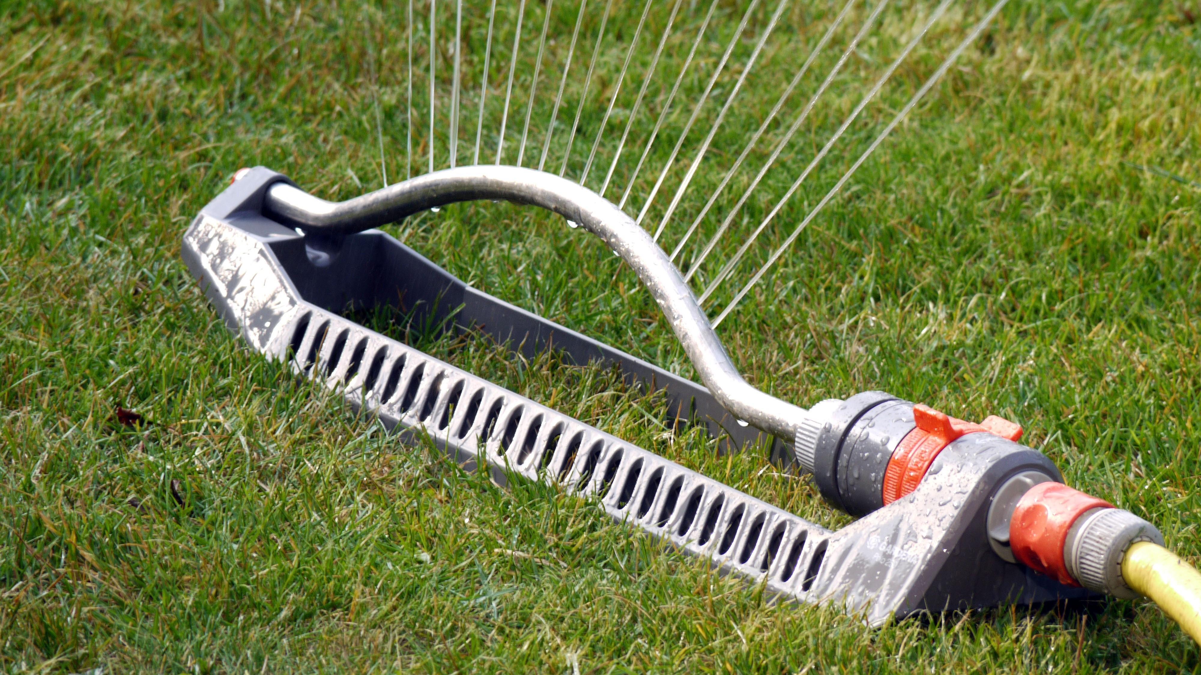 Auch mit Wassersprenklern lassen sich Katzen erfolgreich  vom Grundstück fernhalten.