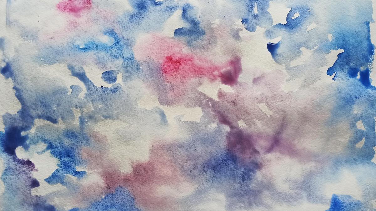 Schritt 2: Definieren Sie grob, wo Sie welche Farben im Bild platzieren und lassen Sie die Schicht trocknen.