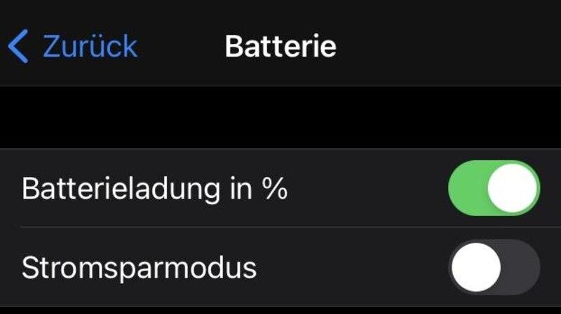 Der Stromsparmodus hilft Akku beim iPhone zu sparen.