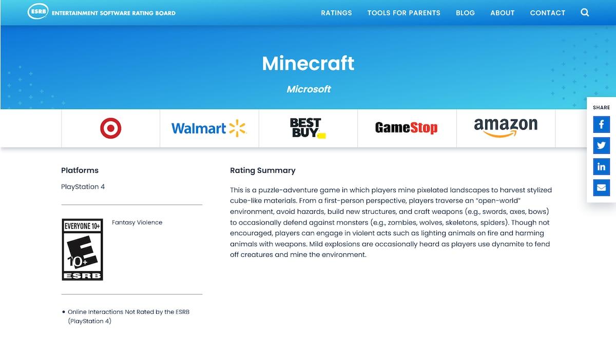 Die amerikanische Institution ESRB empfiehlt Minecraft ab zehn Jahren. Grundsätzlich sollten Eltern auf ihr Bauchgefühl hören und einschätzen, welche Szenen und Spielmodi ihr Kind unbefangen spielen kann. Dafür ist es wichtig, sich selbst mit Minecraft vertraut zu machen.