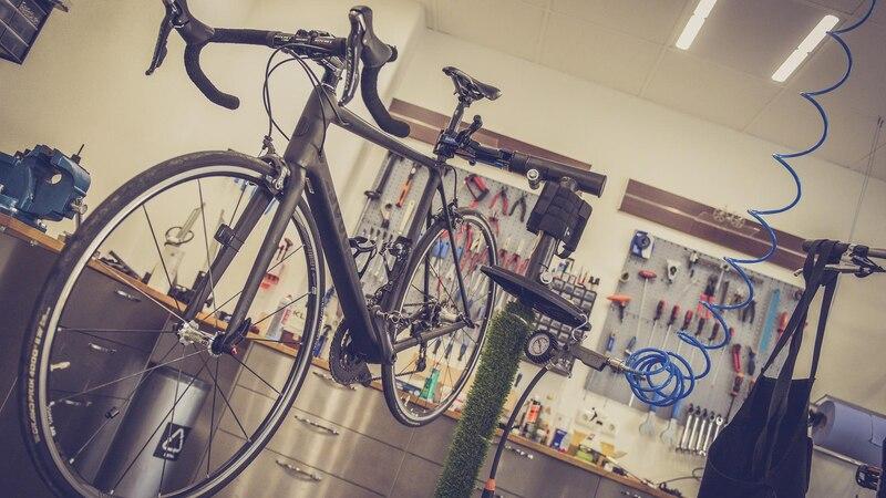 Fahrrad in Peparaturwerkstatt