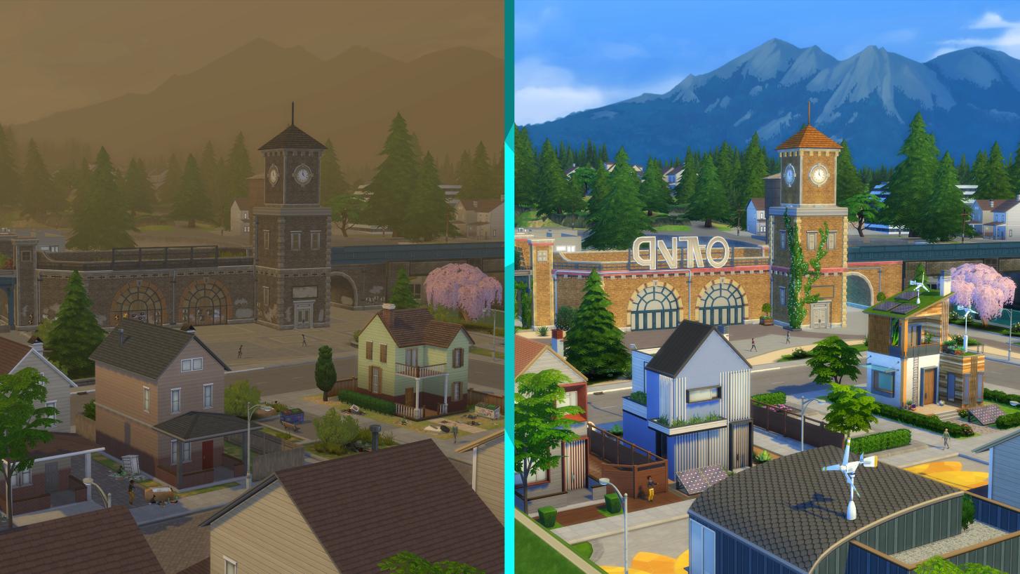 Eine wichtige Lektion über Nachhaltigkeit und den eigenen ökologischen Fußabdruck lernen Kinder spielend in Sims 4 mit der Erweiterung