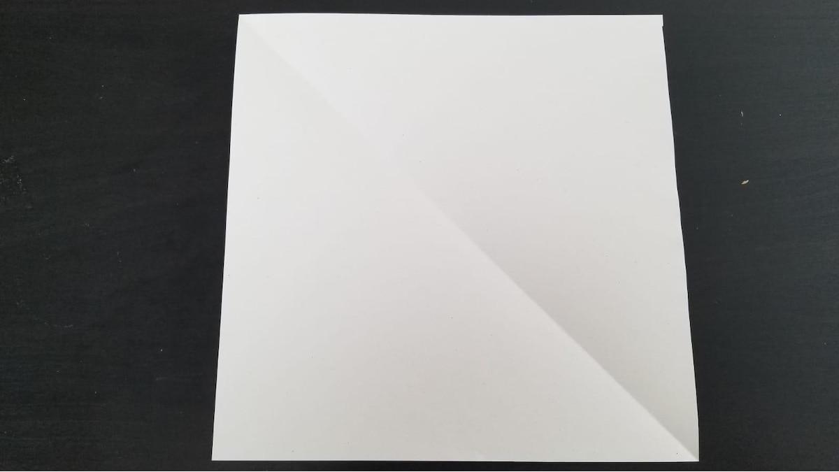 Um ein Spinnennetz aus Papier zu basteln, benötigen Sie ein quadratisches Blatt Papier.